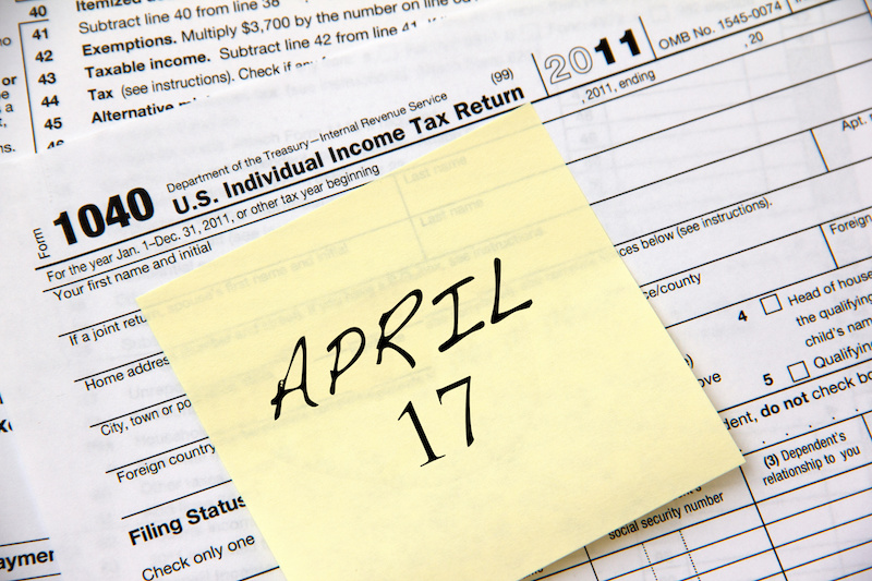 Taxes Due April 17